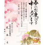 2020年 松本印刷 年賀状見本 4号